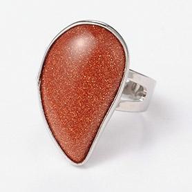 Gemstone Brass Rings