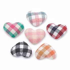 Handmade Cloth Fabric Covered Cabochons