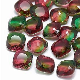 Imitation Tourmaline Glass Cabochons