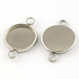 Stainless Steel Cabochon Connector Settings