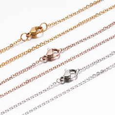 304 Stainless Steel Cable Chain Necklaces