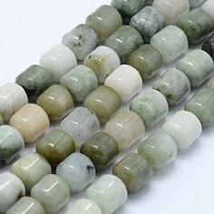 Column Natural Burma Jade Beads Strands