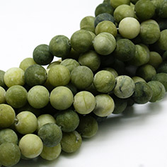 Frosted Natural TaiWan Jade Bead Strands