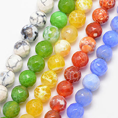 Natural Agate Bead Strands