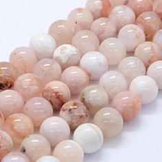 Natural Cherry Blossom Agate Beads Strands