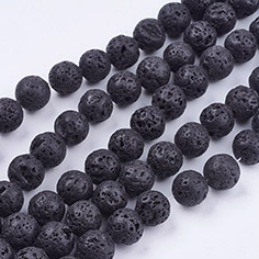 Natural Lava Stone Beads Strands