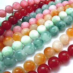 Natural White Jade Beads Strands