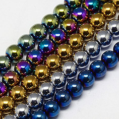 Non-magnetic Synthetic Hematite Beads Strands