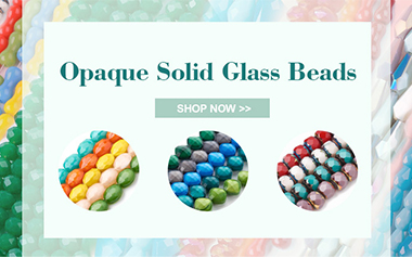 Opaque Solid Glass Beads