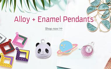 Alloy + Enamel Pendants
