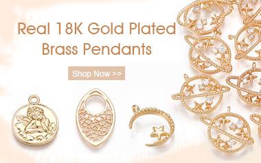 18K Brass Pendants