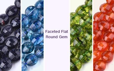 Faceted Flat Round Gem