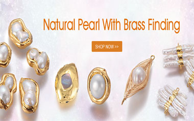 Natural Pearl With Brass Findings