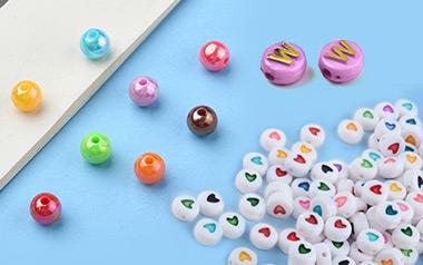 Mixed Opaque Acrylic Beads