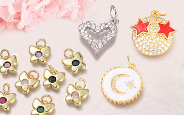 Real 18K Gold Plated Cubic Zirconia Pendants