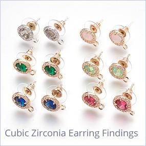 Cubic Zirconia Earring Findings