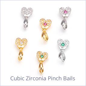 Cubic Zirconia Pinch Bails